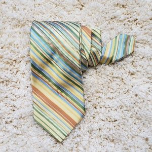 Ted Baker Pastel Silk Diagonal Striped Tie